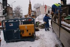 Wymiana przyłącza kanalizacji sanitarnej DN 200 metodą bezwykopową Poznań ul. Knapowskiego