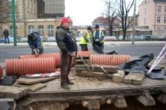 Usuwanie awarii na ul. Głogowskiej