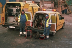 Dysponujemy również ręcznymi elektronarzędziami do czyszczenia kanalizacji